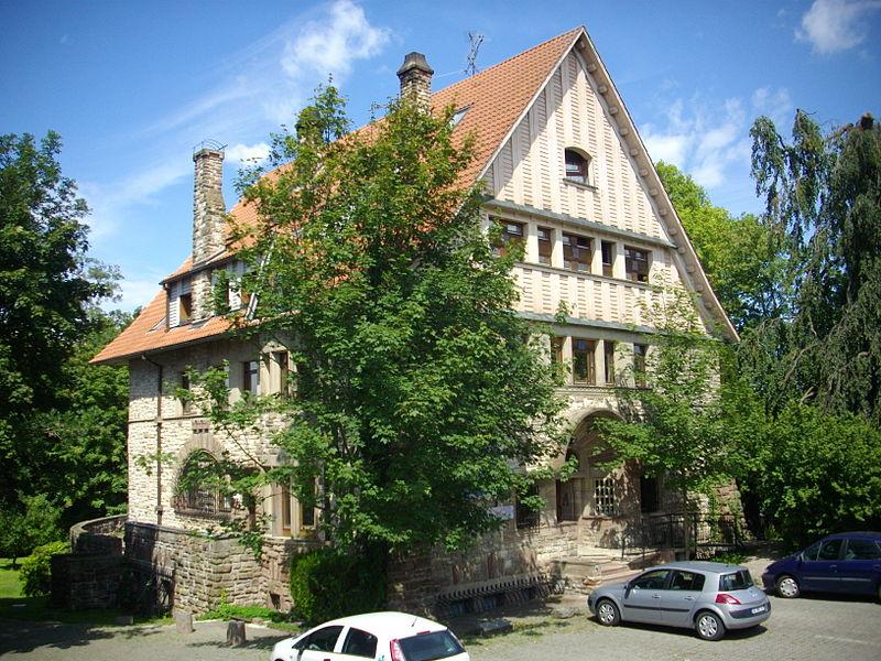 Villa Weiherstein, 31 Gambetta street in Sarrebourg (Moselle, France), seen from Gambetta street.