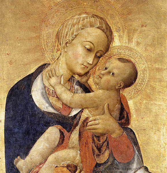 File:Sassetta, madonna col Bambino e quattro santi, dettaglio 01.jpg