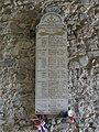Saubion (Landes) église, plaquette monument aux morts.JPG