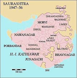 Location of Bhavnagar
