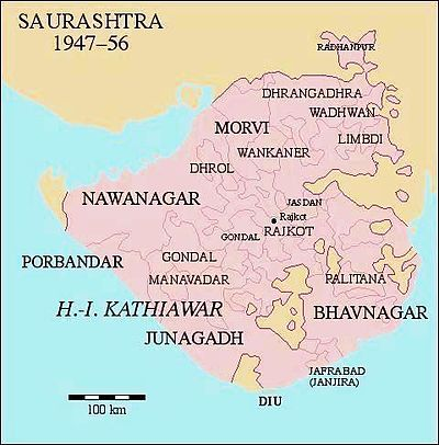 Saurashtra (state) - Wikipedia
