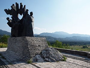 Sava Kovačević - Monument to Sava Kovačević and Yugoslav Partisans in Grahovo, Montenegro.