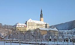 view on Weesenstein Castle.