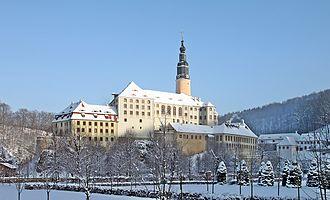 Prince Johann Georg of Saxony - Schloss Weesenstein in winter.