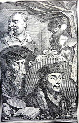 The Great Theatre of Dutch Painters - Image: Schouburg I Plate A Johan Snellinx David Jorisz Erasmus