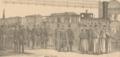 Schweizerische Landesausstellung 1883 - Ankunft der Gäste zur Eröffnungsfeier.png
