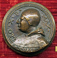 Scuola romana sotto leone X, medaglia di leone X e lo stemma.JPG