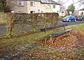Seat and hedge, Crowtrees Lane, Rastrick - geograph.org.uk - 633297.jpg