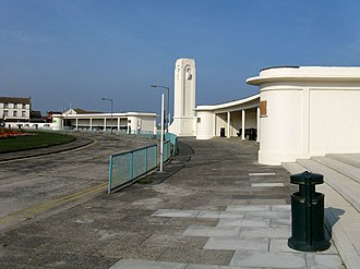 Seaton Carew - Seaton Carew bus station and art deco clock tower