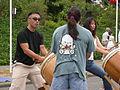 Seattle Bon Odori 2007 taiko drummers 12.jpg