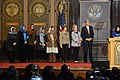 Secretary Kerry, Former Secretary Clinton, and Former First Lady Laura Bush Share the Stage (10873322224).jpg
