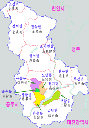 Dodam-dong - Map of Sejong City