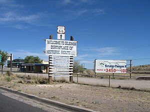 Seligman, Arizona - Welcome sign