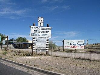 Seligman, Arizona - Welcome sign