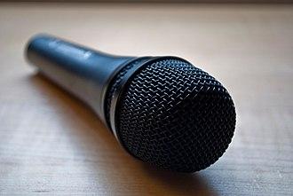 Microphone - A Sennheiser dynamic microphone