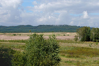 Sennelager Training Area - Northwestern part of the Sennelager Training Area (Stapel exercise area). The Teutoburg Forest is in the background.
