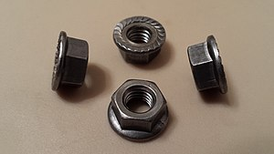 Flange nut - Image: Serrated hex flange nut