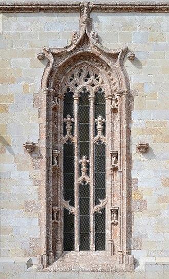 Monastery of Jesus of Setúbal - Main window of the apse of the church of the Monastery of Jesus.