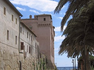 Santa Severa - Walls of the Castle of Santa Severa.