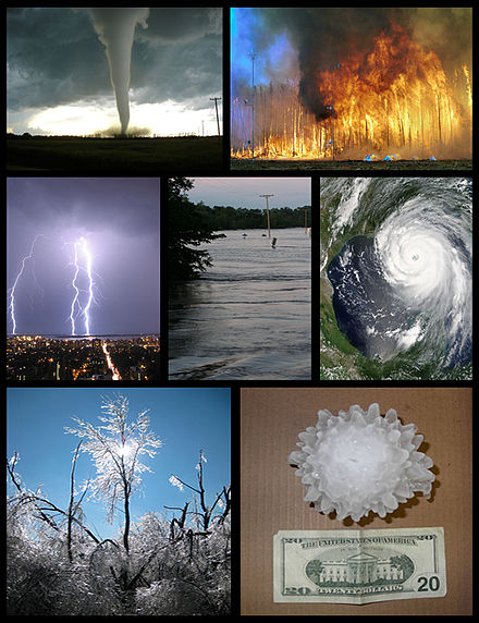 Various forms of severe weather Severe weather montage.jpg