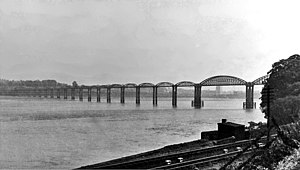 Severn Railway Bridge - Severn Railway Bridge in July 1948