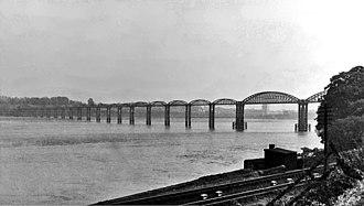Severn Railway Bridge - Severn Railway Bridge in July 1948