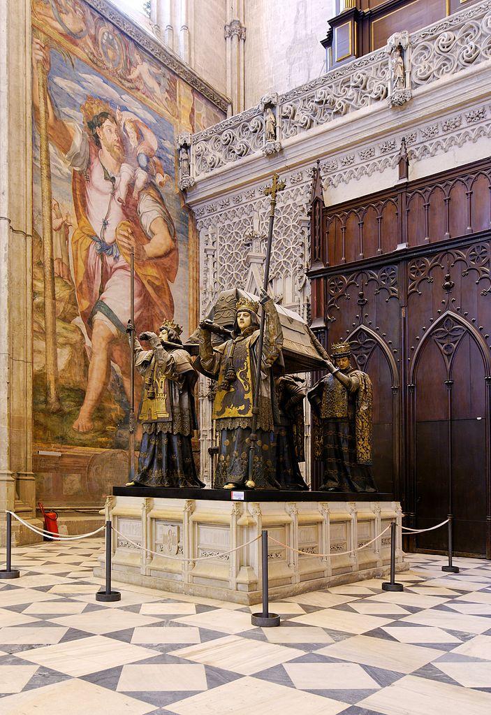 Tombe de Christophe Collomb porté par les provinces espagnoles dans la Cathédrale de Séville - Photo de Pom²