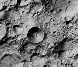 South lunar pole.