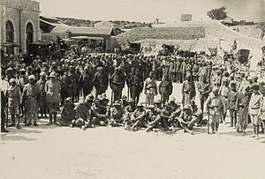 First Battle of Gaza - Australian prisoners captured at Shellal