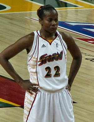 Women's National Basketball Association - Sheryl Swoopes, the first player signed (shown in 2008)