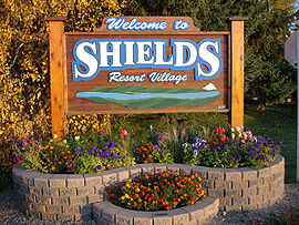 Shields welcome sign