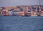 Ships and submarine at Devonport.jpg