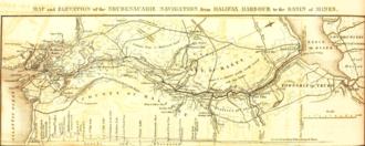 Shubenacadie Canal - Shubenacadie Canal Map, Nova Scotia, 1831
