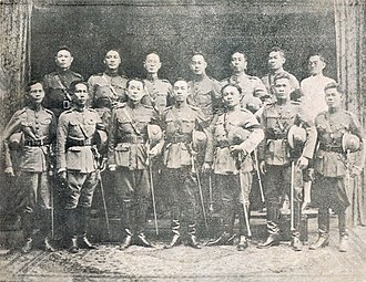 Vajiravudh - Photograph of Palace Revolt of 1912 key plotters