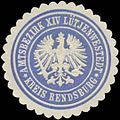 Siegelmarke Amtsbezirk XIV Lütjenwestedt Kreis Rendsburg W0360490.jpg