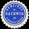 Siegelmarke Gemeinde Dachwig - Landkreis Erfurt W0226415.jpg