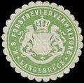 Siegelmarke K.S. Forstrevierverwaltung Langebrück W0354852.jpg