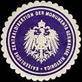 Siegelmarke Kaiserliche Zentraldirektion der Monumenta Germaniae Historica MGH W0313289.jpg