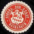 Siegelmarke Siegel der Stadt - Bacharach W0232557.jpg