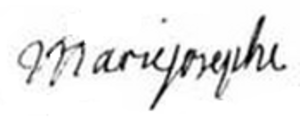 Maria Josepha of Saxony, Dauphine of France - Image: Signature of Dauphine Marie Josèphe of Saxony