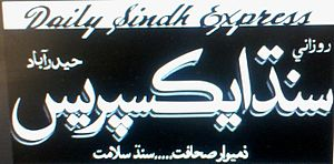 Daily Sindh Express - A Daily Sindh Express front page.