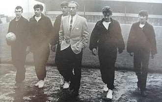 Stanley Matthews - Stanley Matthews as Port Vale Manager with youth players