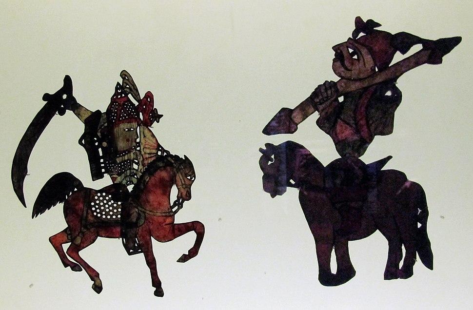 Siria, figurine del teatro d'ombre khayal al-dhill, da damasco, fine XIX-inizio XX sec. 03