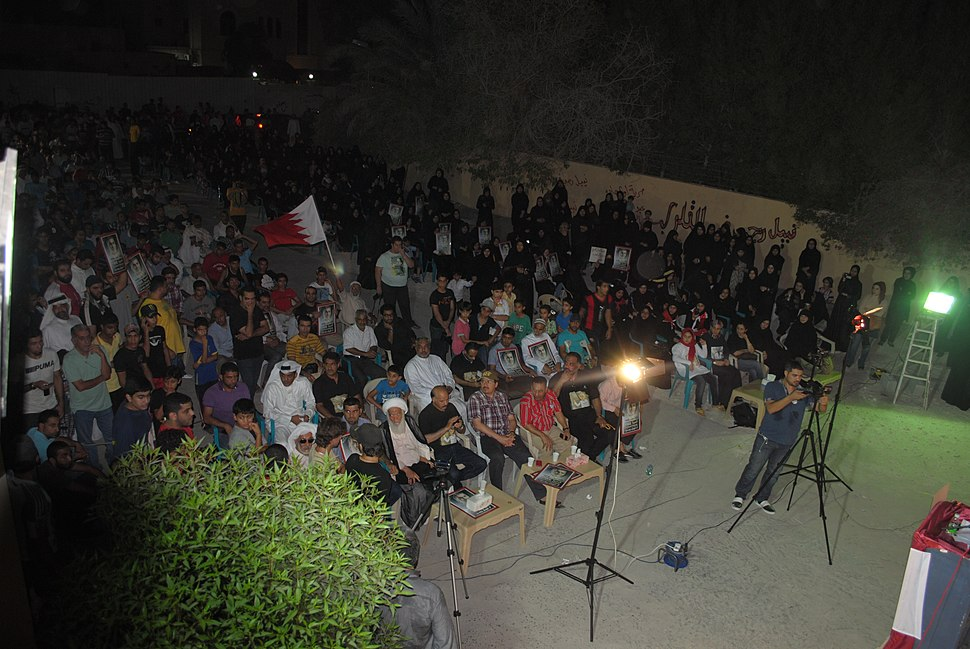 Sit-in in solidarity with Nabeel Rajab