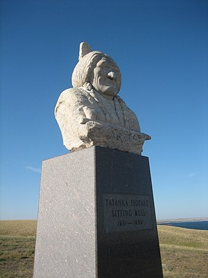 National Register of Historic Places listings in Corson County, South Dakota - Image: Sitting Bull Monument