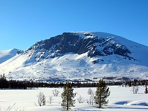 Hallingdal - Skogshorn in Hemsedal, one of many high mountains in Hallingdal
