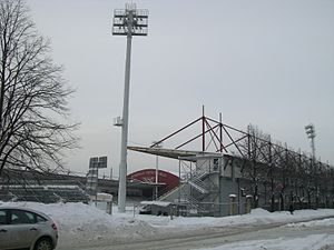 Skonto-Stadion im Winter