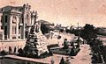 Skopje, razglednica so spomenik, 1930-ti.jpg
