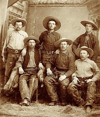 "John Horton Slaughter - Incorrectly identified as ""Terry's Texas Rangers"" in fact these were cowboys of John H. Slaughter; see"