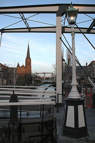 Vliet (canal) - Lock at Leidschendam.